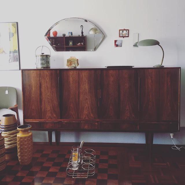 sideboard, aparador, nórdico, design nórdico, pau santo, a Porta Verde, dinamarquês