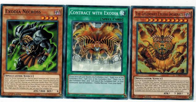 Ada 4 versi lain dari kartu Exodia