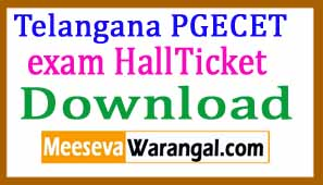 TS PGECET 2017 Hall Tickets Download