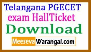 Telangana PGECET 2018 Exam Hall Ticket download