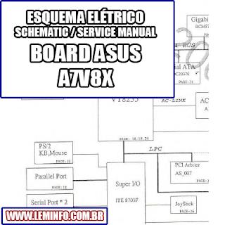 Esquema Elétrico Placa Mãe / Motherboard A7V8X Manual de Serviço  Service Manual schematic Diagram Placa Mãe / Motherboard A7V8X    Esquematico Placa Mãe / Motherboard A7V8X
