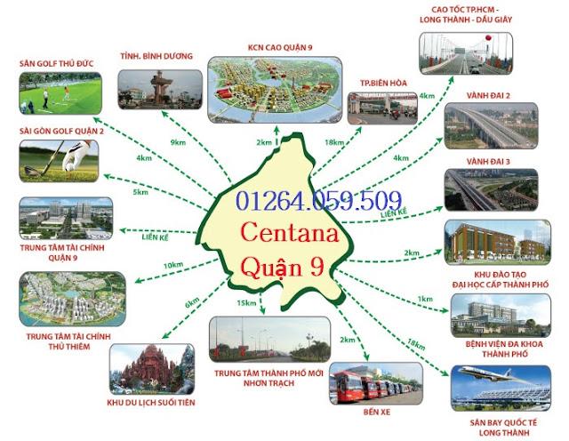 Liên kết vùng của dự án Centana Quận 9