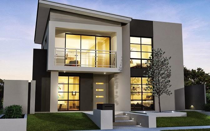 Gambar Desain Rumah Tingkat 2 Lantai