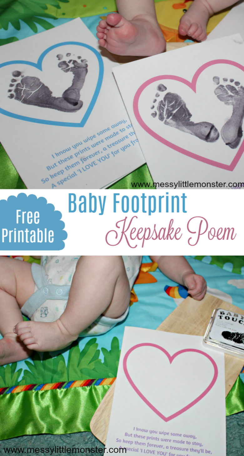 Make a baby keepsake to treasure with this baby footprint poem craft. An easy baby activity with printable poem.
