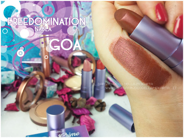 goa swatches  nabla cosmetics freedomination collection summer lipstick diva crime
