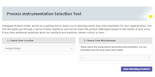 Yokogawa Process Instrumentation Selection Tool