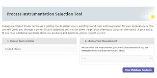 Yokogawa Process Instrumentation Selection Tool