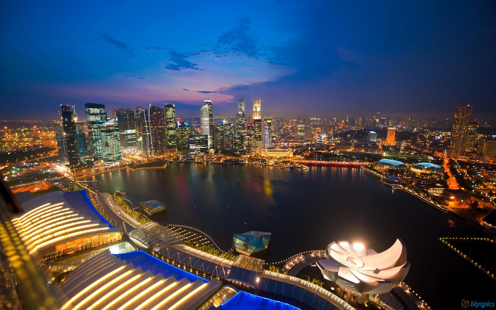 Free Best Pictures: Singapore City Night & Singapore City ...
