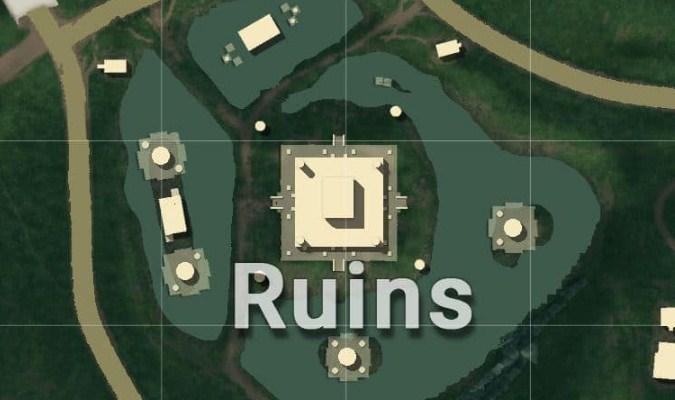 Lokasi Loot Terbaik di Sanhok Map PUBG Mobile - Ruins