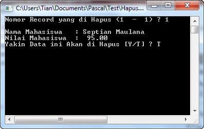 Source Code Hapus Data dalam Pascal