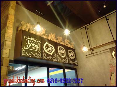 Lukisan dinding untuk cafe keren