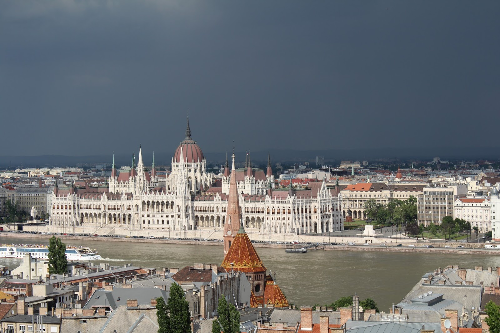 View of Hungarian Parliament Building from Gellért Hill