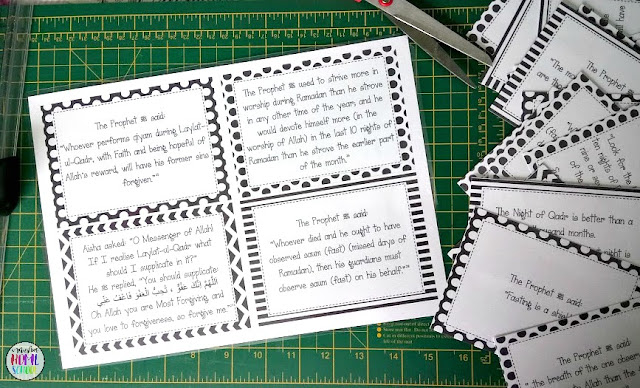 printable hadith cards related to Ramadan