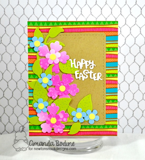 Easter Flower card by Amanda Bodine | Flower Trio Die Set and Spring Pile Up Die Set by Newton's Nook Designs