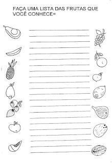 Fazer lista nomes frutas