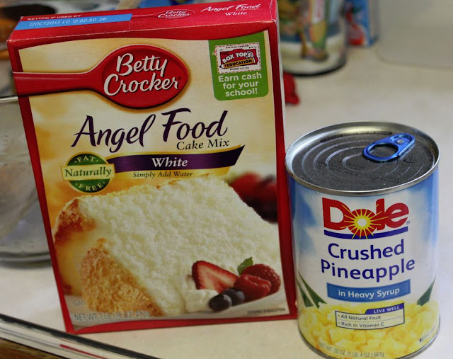 Pineapple Angel Food Cake , 4 Smart Points , Weight Watchers
