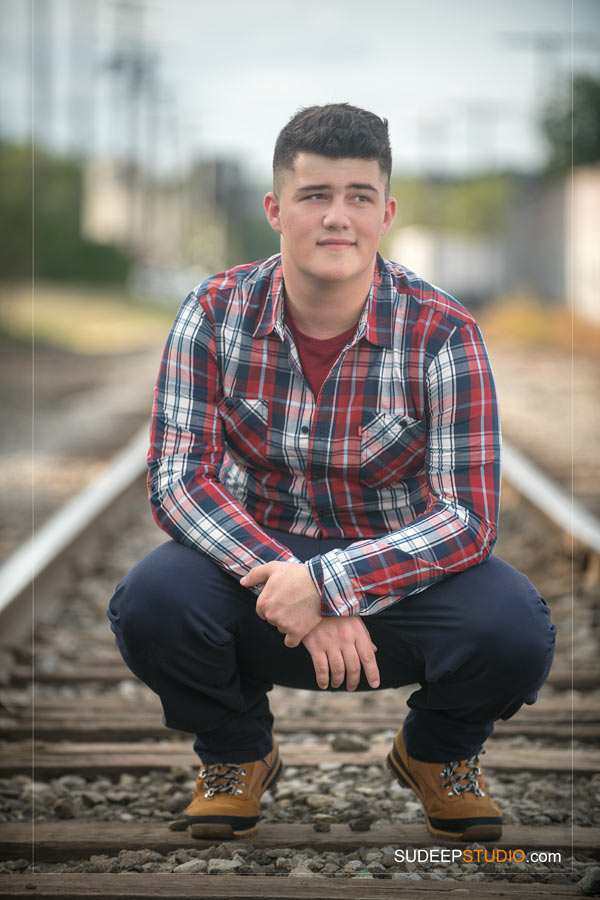 Chelsea High School Rail road train track ideas Senior Pictures for Guys SudeepStudio.com Ann Arbor Senior Pictures Photographer