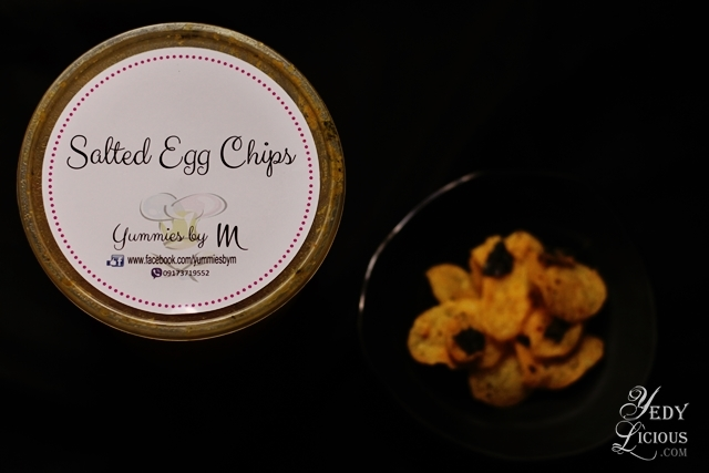 Salted Egg Chips Yummies by M. Where To Buy The Best Salted Egg Chips in Manila Blog Review Price, Salted Egg Potato Chips Recipe, YedyLicious Manila Food Blog Yedy Calaguas