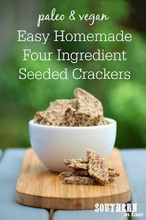 Easy Homemade Gluten Free Seeded Crackers Recipe