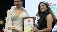 Deepika Padukone in Elegant White Saree and Choli at an award Function  Exclusive Pics 002.jpeg