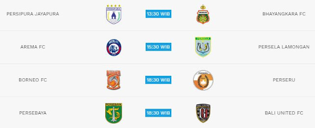 Jadwal Liga 1 Sabtu 7 Juli 2018 - Live Indosiar