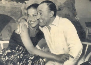 Toto with Franca Faldini, the girl he regarded as the true love of his life