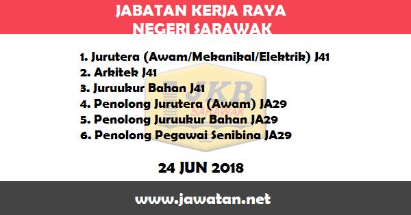 Jawatan Kosong di Jabatan Kerja Raya (JKR) Sarawak