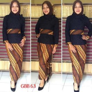 Model kebaya rok batik untuk pramugari muda