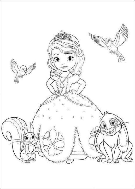Tranh cho bé tô màu công chúa Sofia 3