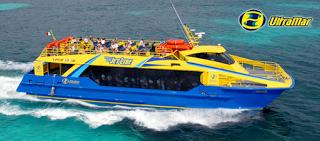 ferry ultramar, Cancún, Isla Mujeres, México. Cuba