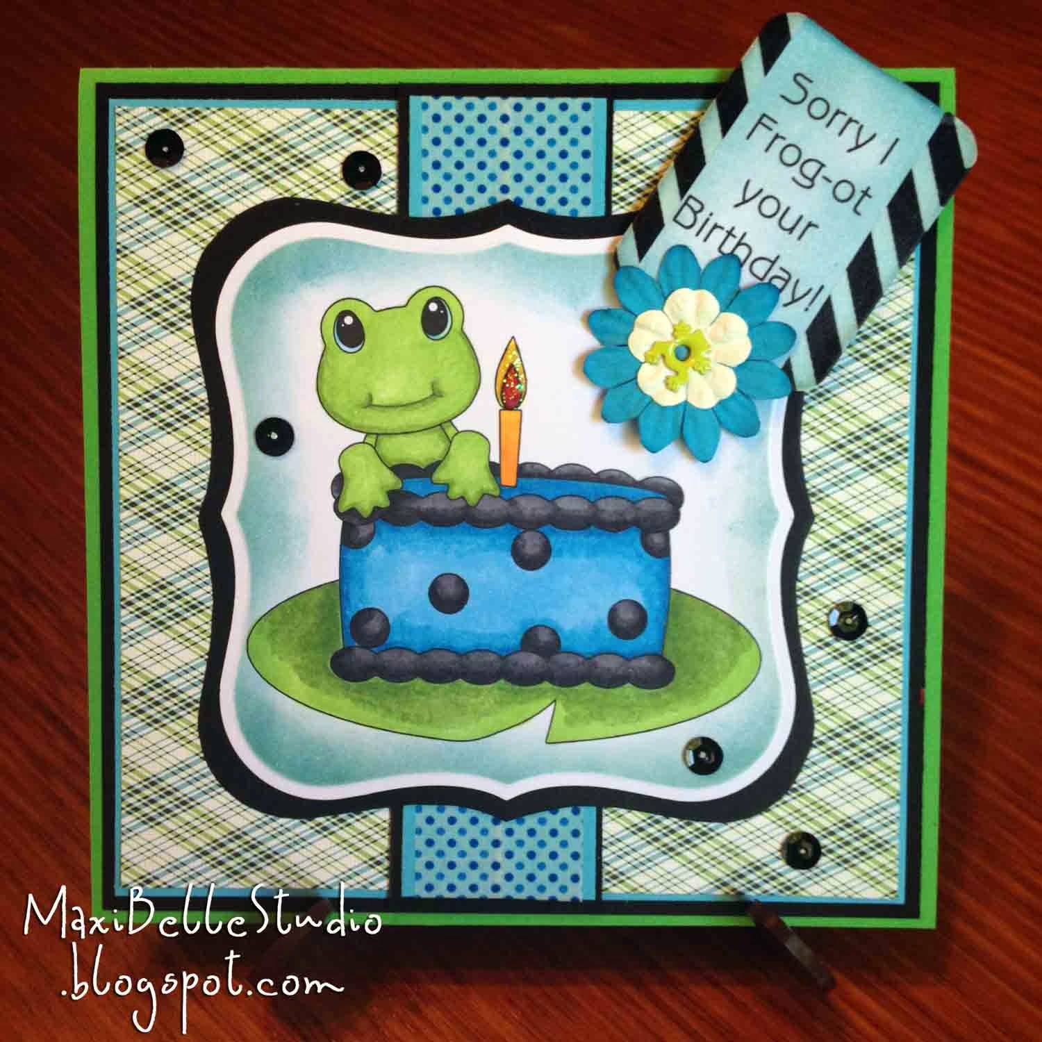 KaDoodle Bug Design Birthday Cake Frog