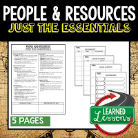 People and Resources, World History Outline Notes, World History Test Prep, World History Test Review, World History Study Guide, World History Summer School Outline, World History Unit Overview, World History Interactive Notebook Inserts