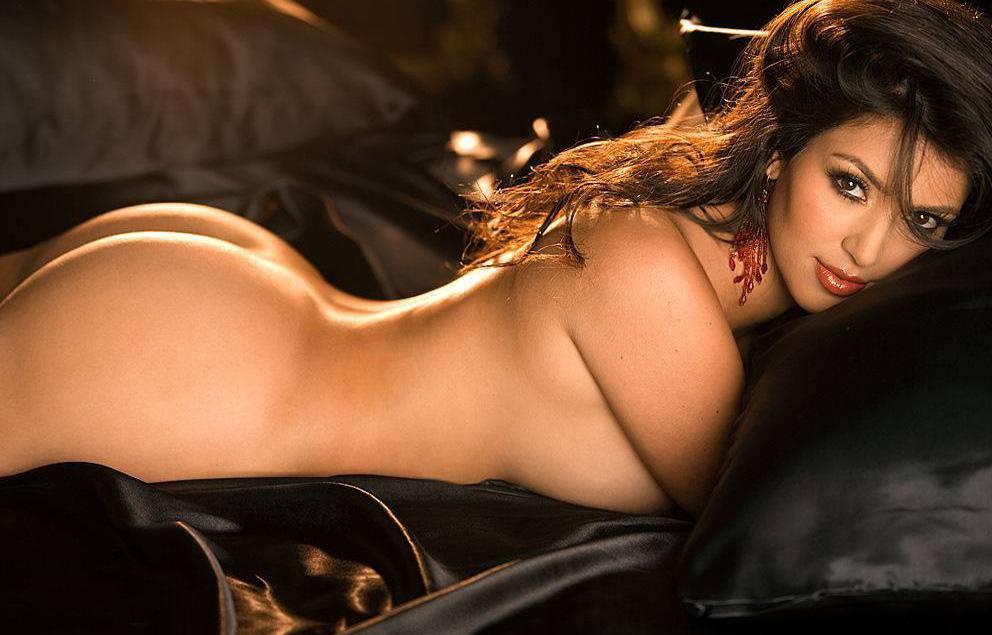 Kim Kardashian jetzt auch von vorne nackt: Umdrehen