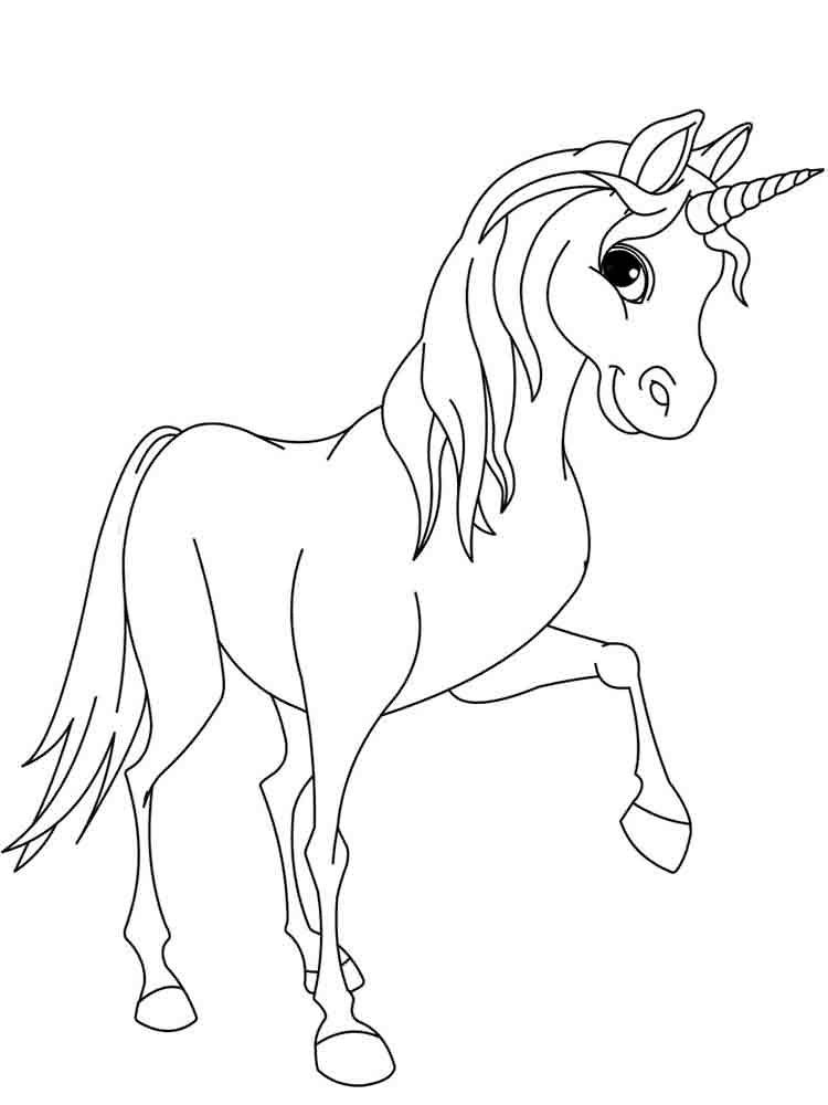 Gambar Unicorn Hitam Putih : gambar, unicorn, hitam, putih, Gambar, Mewarnai, Unicorn