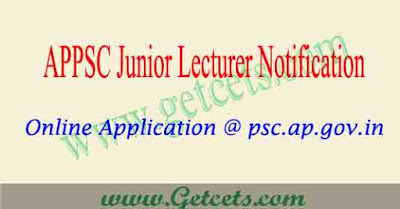 APPSC JL notification 2019 AP Junior Lecturer advt pdf