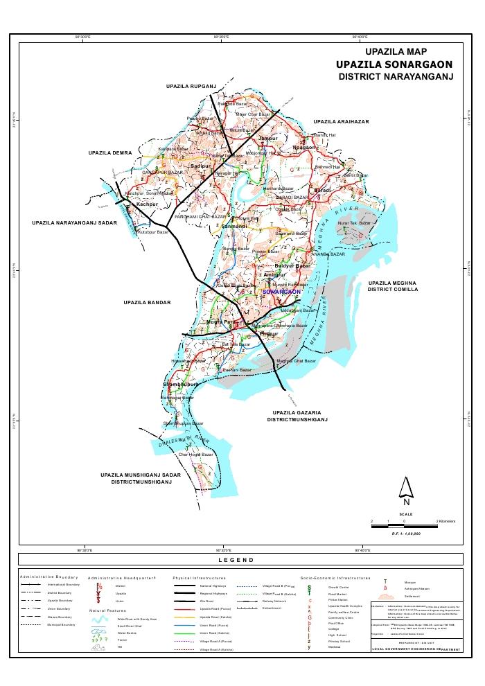 Mouza Map & 3 Detailed Maps of Sonargaon Upazila