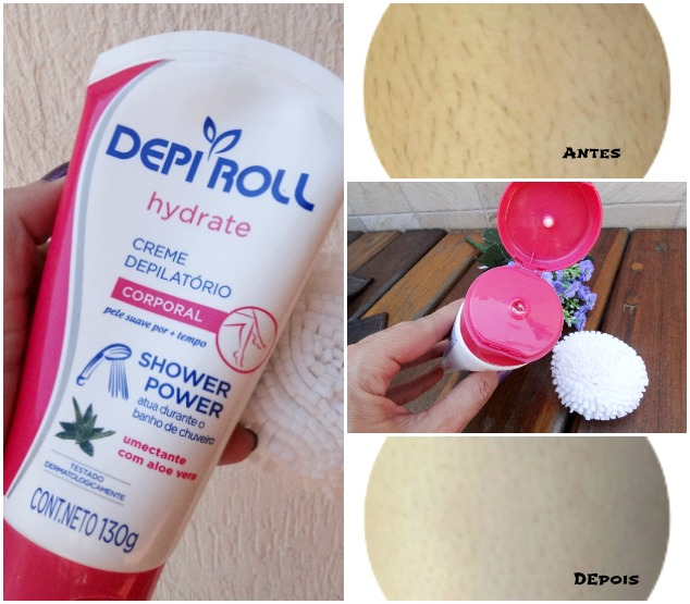 DepiRoll Hydrate Creme depilatório Shower Power Corporal 3