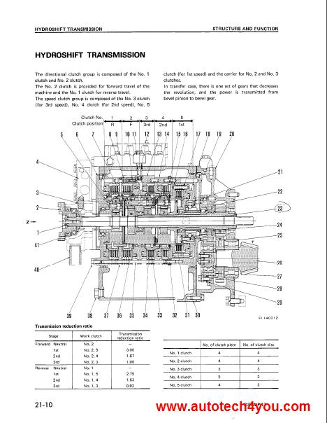 Komatsu D31-D37 Bulldozer service manual on