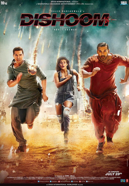 Dishoom 2016 Hindi DVDScr Full Movie Download And Watch Online extramovies.in Dhishoom 2016