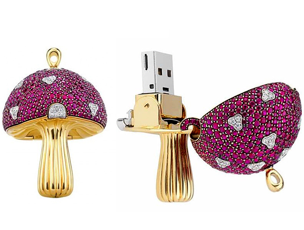 memoria flash USB de lujo con diamantes