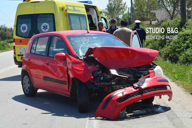 Αργολίδα: Τροχαίο ατύχημα στη Νέα Κίο με εκτροπή αυτοκινήτου