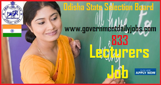 SSB Odisha Recruitment 2018 Apply 883 Vacancies of Lecturers