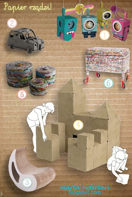 INSPIRACJE - papier i tektura w domu i/lub dla dzieci