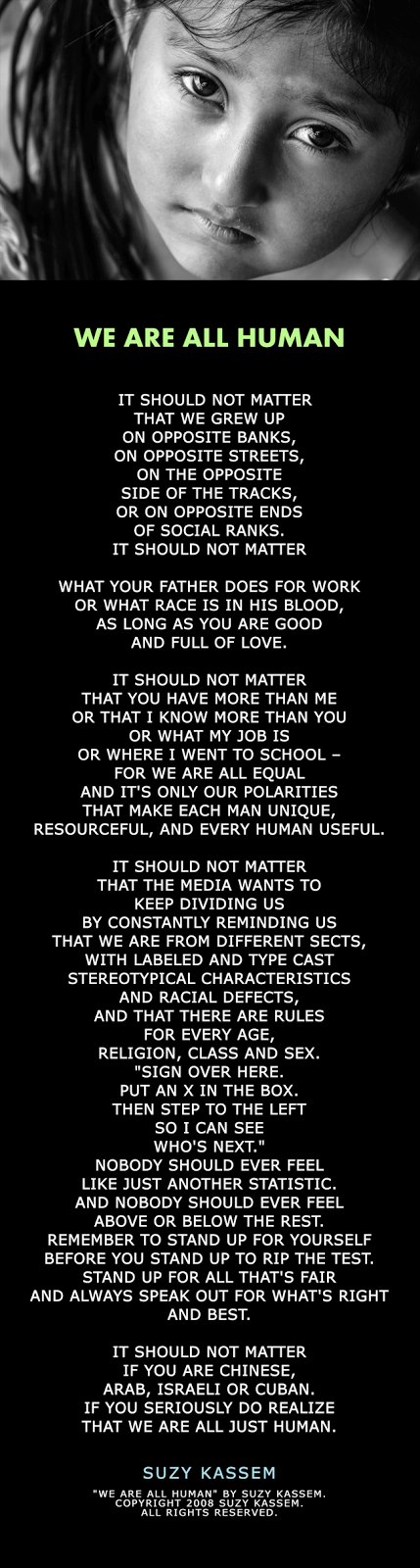 We Are All Human Poem