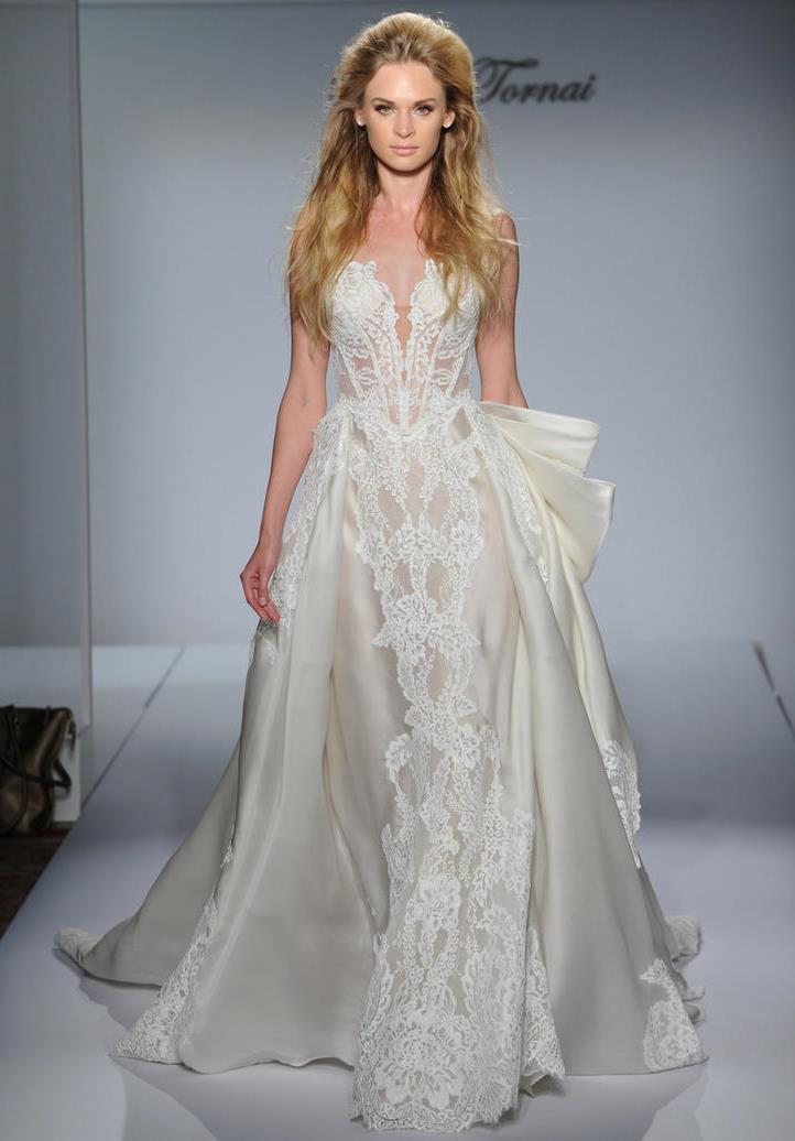 pnina tornai all lace wedding dress wedding celebration