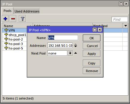 Konfigurasi VPN Pada Mikrotik