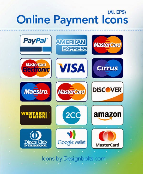 Credit Card & Online Payment Method Icons