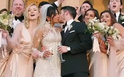 Priyanka Chopra-Nick Jonas Lock Lips After Saying 'I Do'