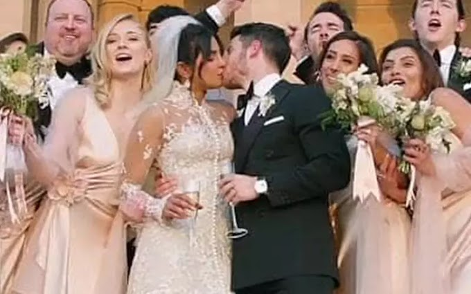 Priyanka Chopra-Nick Jonas Lock Lips After Saying 'I Do'