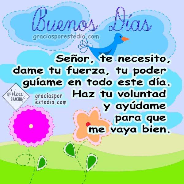 Acción de gracias a Dios por este día, bendiciones, imágenes con oraciones de gracias por Mery Bracho.